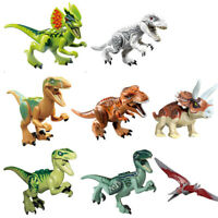 LOT 8 MINI FIGURINES JURASSIC WORLD 2 DINOSAURE T REX INDOMINUS JOUET