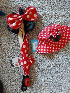 Childrens Minnie Mouse 3D Umbrella and rain Hat. Red