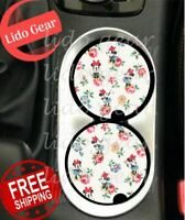 Disney FLORAL MINNIE Car Coasters Disney Inspired Car Coaster Cup Holders