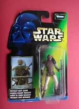 1996 Star Wars Power of the Force vert weequay skiff guard SEALED Figure