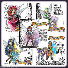 Tinker Bell Stickers x 5 - Fairies Stickers -Tinkerbell Pirate Fairies - Favours