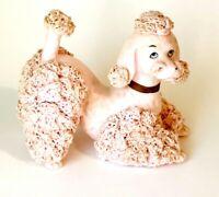 "Vintage Napco Pink Spaghetti Poodle Dog Figurine Dog Collectors  9"" x 5.5"""