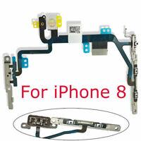 """Apple iPhone 8 4.7"""" Power Volume Mute Button Flex Cable Ribbon With Bracket"""
