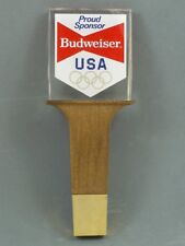 NEW in Bag 1984 Budweiser Olympics Sponsor 8 inch Lucite Tap Handle