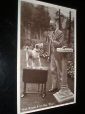 More details for old postcard author hugh walpole and his dog bingo c1930s