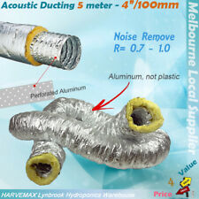 """4""""/100mm Thick Acoustic Insulated Ducting For Hydroponics Grow Tent Duct"""