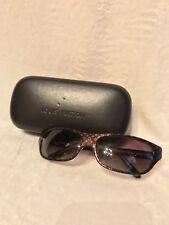 Vintage LOUIS VUITTON MONOGRAM LOGO Brown Plastic Sunglasses MODEL Z0021E