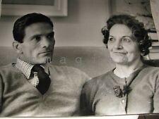 Fotografia originale/P. Paolo Pasolini con la madre  Vittorio La Verde Roma 1965