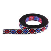 3 Yard 13mm Ethnic Embroidered Jacquard Ribbon DIY Boho Garments Bags Choker
