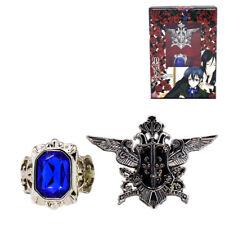 Black Butler Cosplay Ciel Sapphire Ring Badge