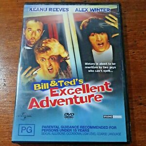 Bill and Teds Excellent Adventure Keanu Reeves DVD R4 Like New! FREE POST