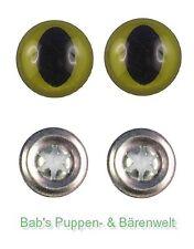 1 Paar Sicherheitsaugen Katzenaugen lange Pupille grün 18 mm