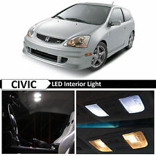 7x White LED Lights Interior Package Kit for 2001-2005 Honda Civic SI EP3