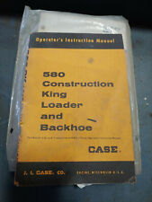 CASE 580 CONSTRUCTION KING LOADER BACKHOE OPERATORS INSTRUCTION MANUAL