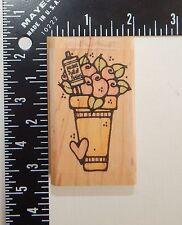 Whipper Snapper Designs Swirl Flowers In Pot Rubber Stamp D031