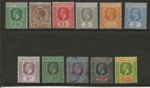 GOLD COAST  SG 86/98  1921/4 WATERMARK MULTIPLE SCRIPT CA SET TO 5/- MINT & USED