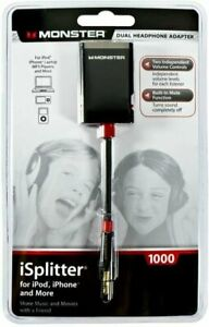 Monster iSplitter 1000 Y-Splitter with Volume Control/Mute for iPod and iPhone