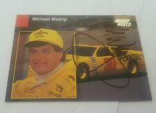 Michael Waltrip Hand Autographed Power Moves 1994 Pro Set Preview  Card GVG  HS