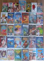 Lot of 31 Walt Disney VHS Tapes - Masterpiece Collection