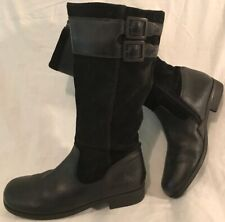 Start-rite Black Mid Calf Leather Lovely Boots Size 4F (206v)