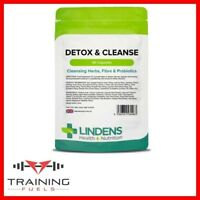 Lindens Detox & Cleanse 90 Capsules Dietary Fibre Cleansing Herbs Probiotics