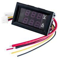 DC0-100V 100A LED DC Pantalla Dual Medidor Digital de Corriente y Voltaje I4N8