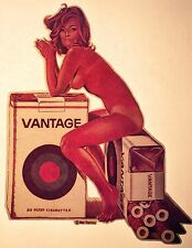 New listing vTg Mel Ramos 60s Vantage Cigarette ad pinup playboy 70s tobacco t-shirt iron-on