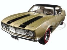 1967 CHEVROLET CAMARO Z/28 GOLD W/BLACK 1/18 DIECAST MODEL ROAD SIGNATURE 92188
