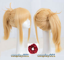 FGO Fate Apocrypha Mordred Wig Styled Yellow Cosplay Wig + Wig Cap+ Red Hairband