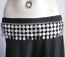 Metal Coin Chain Belt|Belly dance Festival Gypsy Boho Hippy Rave Fashion Jewelry