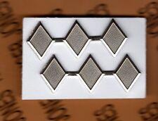 ROTC JROTC CADET Colonel 3 diamonds rank mini uniform badge set