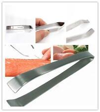 New Kitchen Stainless Steel Fish Scaler Skin Descaler & Bone Remover Tweezers LA