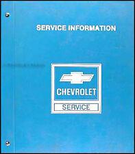 1984 Chevy Citation II and Celebrity Shop Manual Original Repair Chevrolet