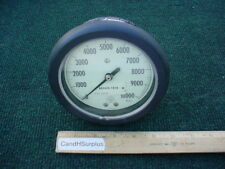 "Acco/helicoid pressure gauge 0-10,000 psi 4 1/2"" back port"