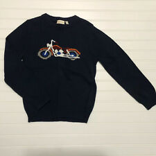 NWT Boys Vintage MOTORCYCLE Sweater Size 7 Large L