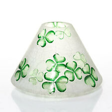 YANKEE CANDLE FROSTED SHAMROCKS CRACKLE GLASS JAR CANDLE SHADE NIB