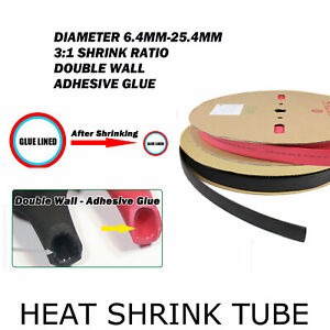 Grade Marine Heat Shrink Tubing 3:1 Wire Sleeve Glue Inside Fast Wrap Insulation