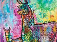 LLAMA MAMA - DEAN RUSSO ART - 1000 PIECE JIGSAW PUZZLE - BRAND NEW - 48451