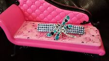 Crystals & DRAGONFLY Jewelry BARRTTE 3.5 X 9/16 inch Sapphire Blue!