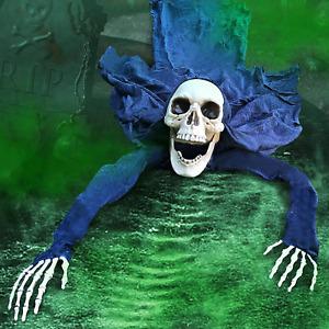 Kacwsoay Outdoor Halloween Scary Decorations Skeleton Groundbreaker Animatronics