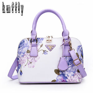 Printing Floral Fashion Women Bag Shell Leather Handbags Summer Shoulder Bags