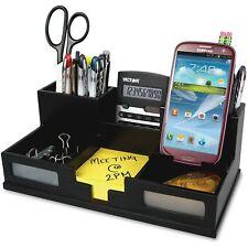 VICTOR SYSTEMS/KARDEX Midnight Black Desk Organizer with Smartphone Holder 10 1