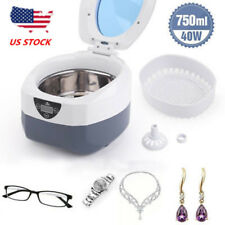 Ultrasonic Ultrasound Cleaner Glasses Watch Jewelry Cleaning Machine Home Office