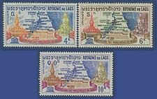 LAOS N°94/96** Sauvegarde des monuments de Nubie  TB 1964, complete set MNH
