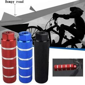 1 Pair MTB BMX Bike Alloy Foot Stunt Pegs Footrest Grip Cylinder Lever P3P1