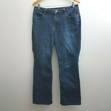 Sonoma Original Bootcut Jeans 12 Short Flap Pockets Straight Dark Wash Stretch