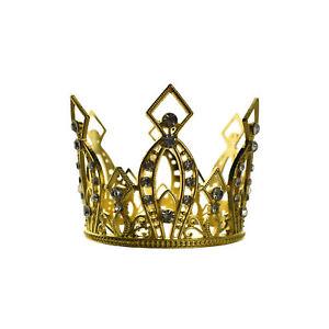 Rhinestone Accents Alloy Crown, 3-1/4-Inch