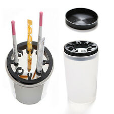 Nail Art Brush Cleaner Holder UV Acrylic Gel Pen Pot Cleanser Cup BottleTool UK