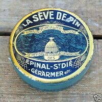 Vintage Original LA SEVE DE PIN FRENCH Candy Tin Art Deco Empty Unused 1910s