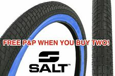 A SALT PITCH FLOW 20 x 2.25 TYRE BMX SNAKE BELLY STREET BLUE WALL HUGE SAVING